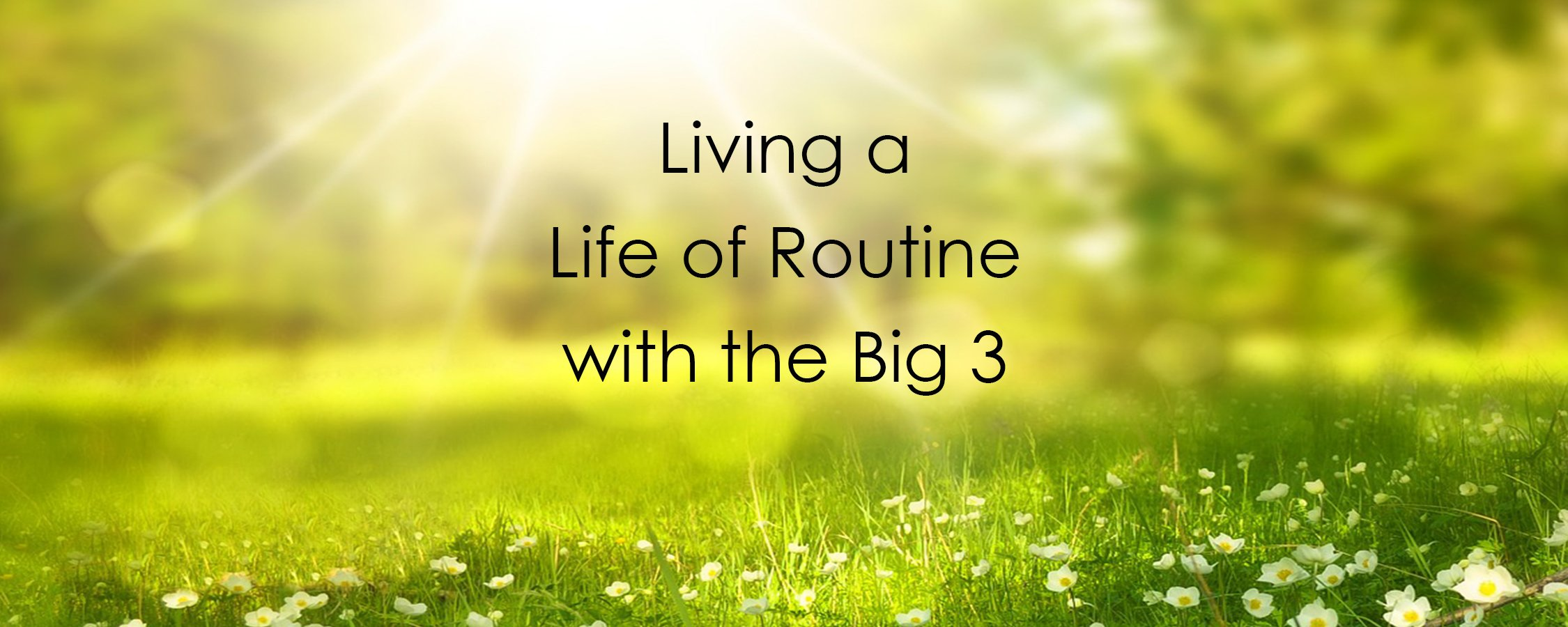Living a Life of Routine with the Big 3